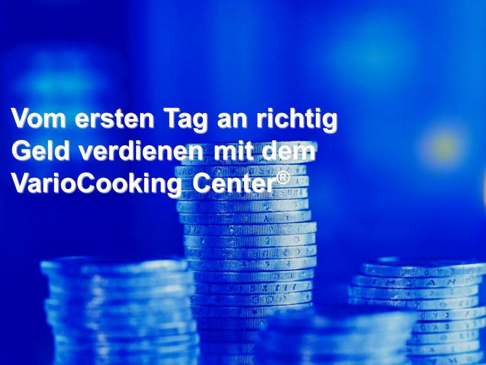 Mehr verdienen mit dem VarioCooking Center ® 20 % weniger Rohwareneinsatz bei Fleisch 15 % weniger Rohwareneinsatz bei Gemüse & Beilagen.