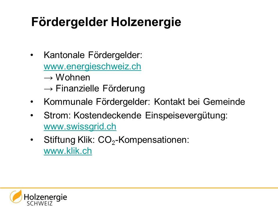 Fördergelder Holzenergie Kantonale Fördergelder: www.energieschweiz.ch Wohnen Finanzielle Förderung www.energieschweiz.ch Kommunale Fördergelder: Kont