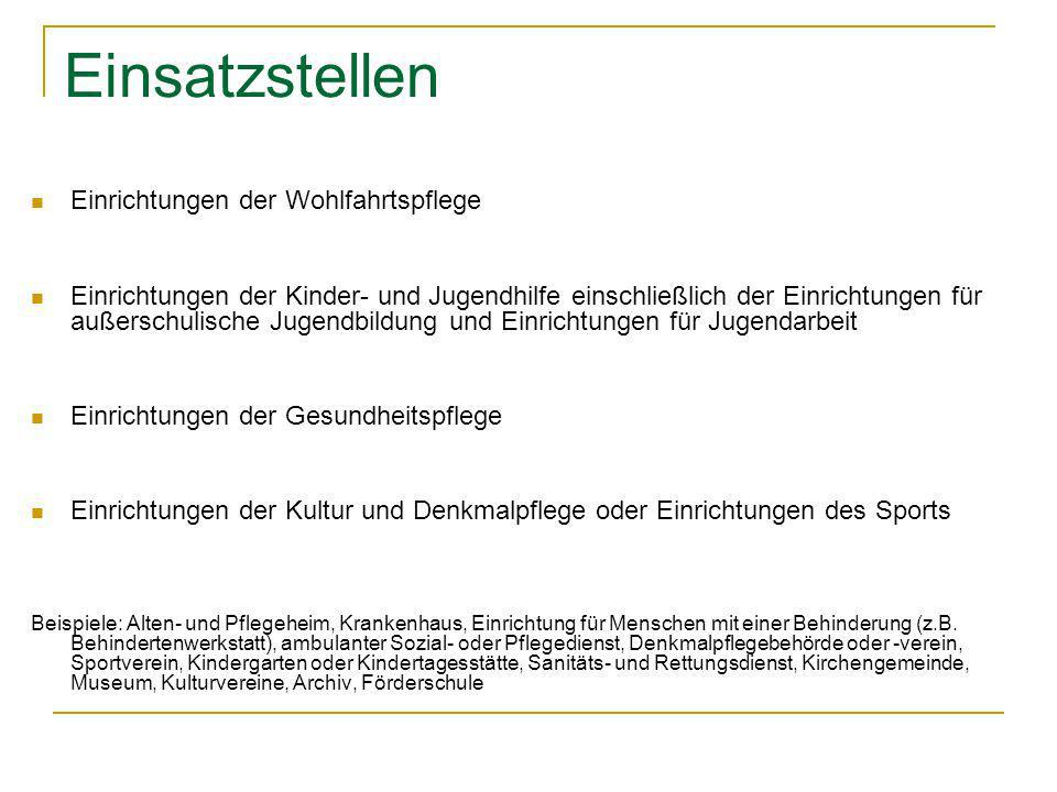 Quellen: Gesetz zur Förderung eines Freiwilligen Sozialen/Ökologischen JahresGesetz zur Förderung eines Freiwilligen Sozialen/Ökologischen Jahres www.ijgd.de/www.ijgd.de/ http://www.bundes-freiwilligendienst.de/fsj-freiwilliges-soziales-jahr/http://www.bundes-freiwilligendienst.de/fsj-freiwilliges-soziales-jahr/ http://www.pro-fsj.de/http://www.pro-fsj.de/ http://www.bundesfreiwilligendienst.de/der-bundesfreiwilligendienst.htmlhttp://www.bundesfreiwilligendienst.de/der-bundesfreiwilligendienst.html