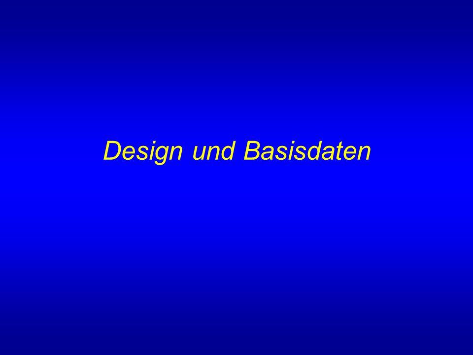 Design und Basisdaten