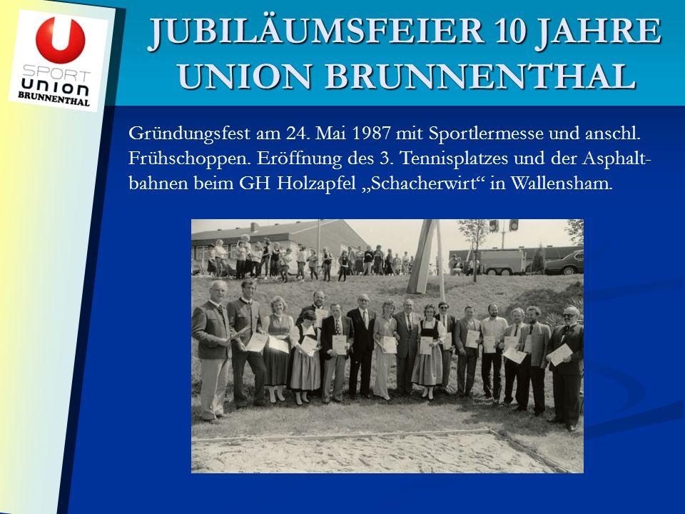 JUBILÄUMSFEIER 10 JAHRE UNION BRUNNENTHAL Gründungsfest am 24.