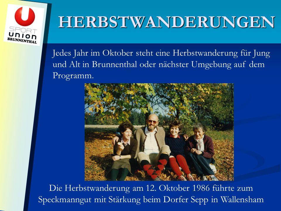 HERBSTWANDERUNGEN Die Herbstwanderung am 12.
