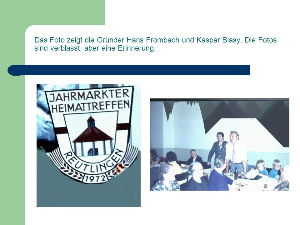 Das Foto zeigt die Gründer Hans Frombach und Kaspar Blasy.
