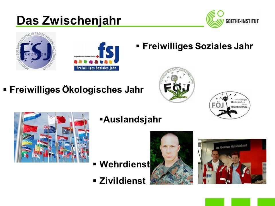 Wehrdienst Zivildienst Das Zwischenjahr Freiwilliges Soziales Jahr Freiwilliges Ökologisches Jahr Auslandsjahr