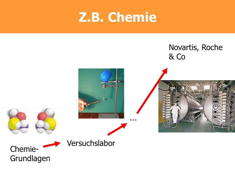 Z.B. Chemie Chemie- Grundlagen Versuchslabor Novartis, Roche & Co...