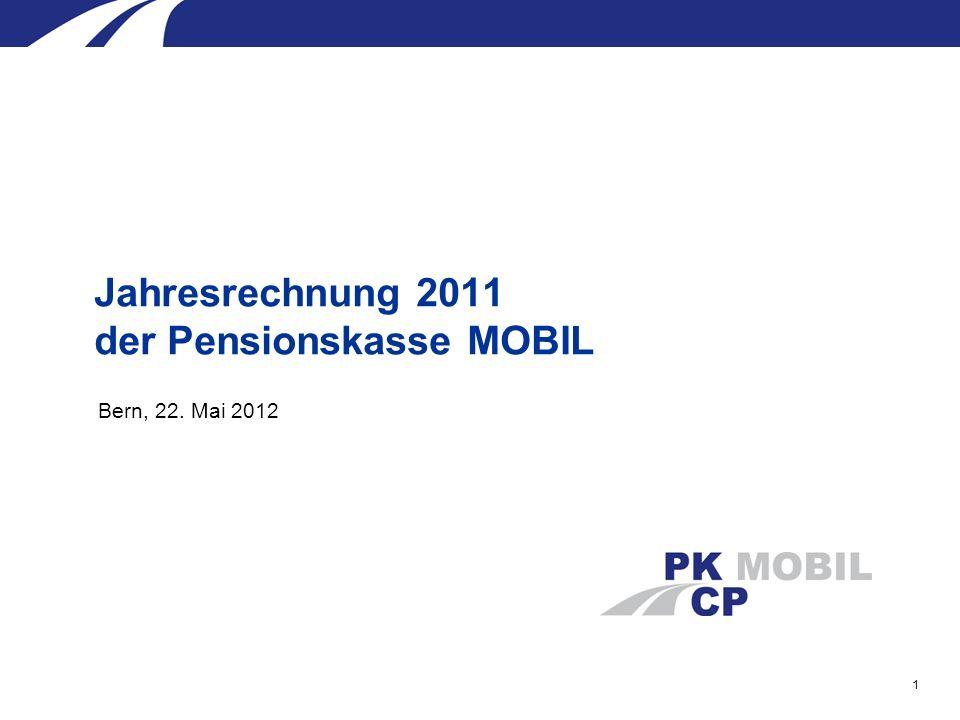 1 Bern, 22. Mai 2012 Jahresrechnung 2011 der Pensionskasse MOBIL