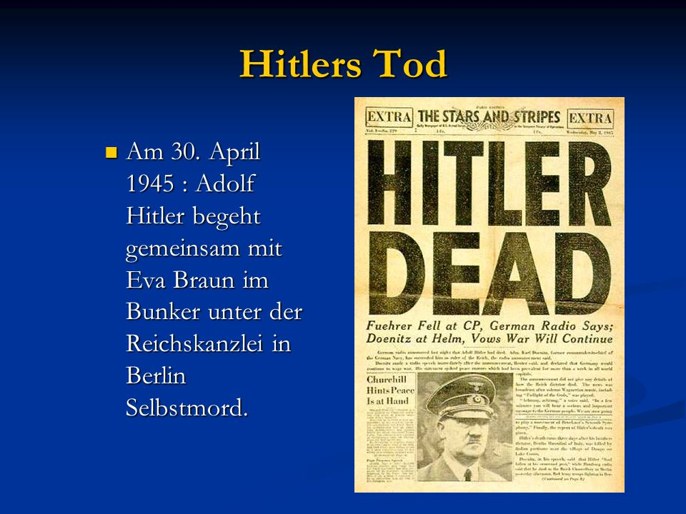 Hitlers Tod Am 30.