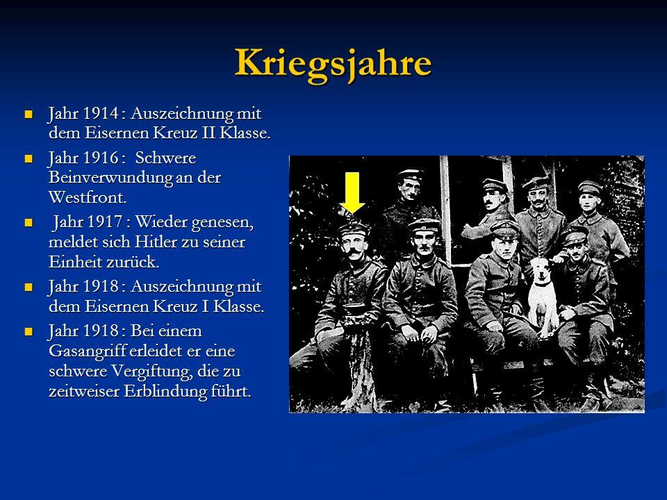 Jugendjahre Jahr 1903 : Tod des Vaters. Jahr 1903 : Tod des Vaters. Jahr 1905 : Hitler verläßt die Realschule ohne Abschlußexamen. Jahr 1905 : Hitler