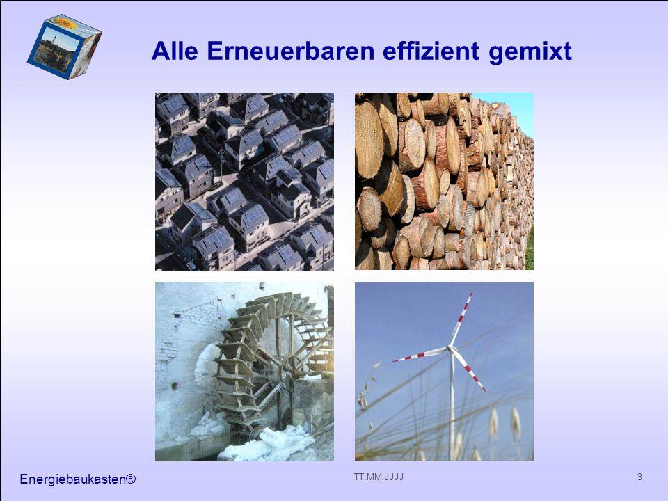 Energiebaukasten® 3TT.MM.JJJJ Alle Erneuerbaren effizient gemixt