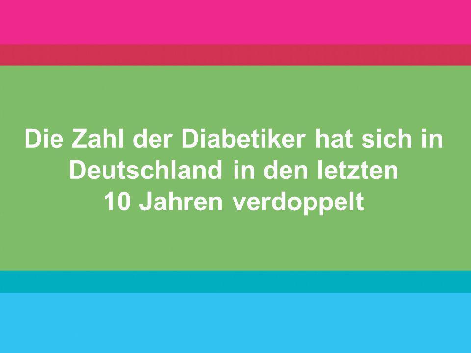 Die Zahl der Diabetiker hat sich in Deutschland in den letzten 10 Jahren verdoppelt