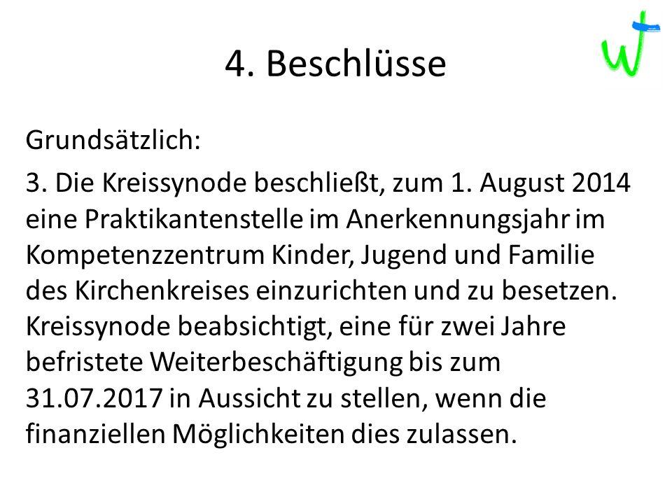 4. Beschlüsse 2013 2012 2015 217 Grundsätzlich: 3.