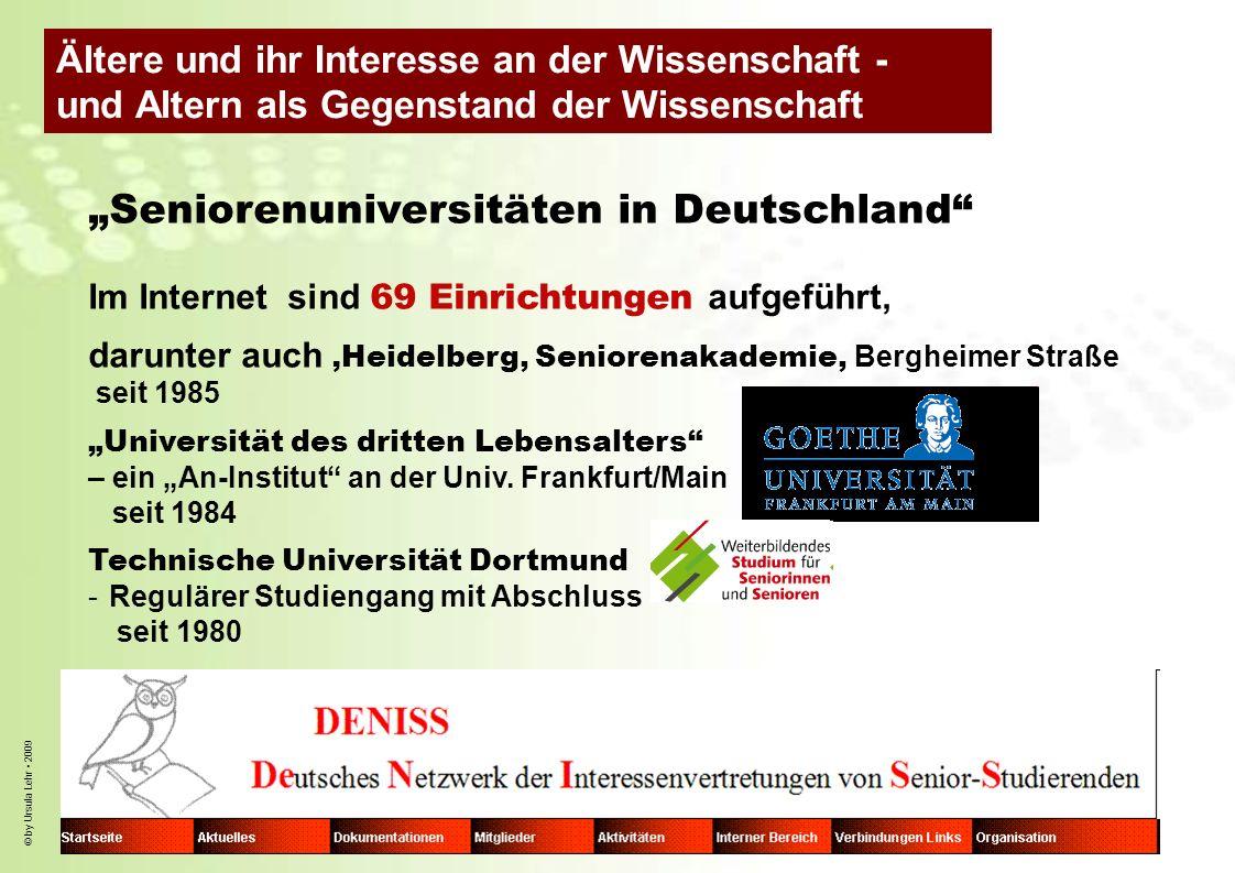By ursula lehr 2009 seniorenuniversitäten in deutschland im internet