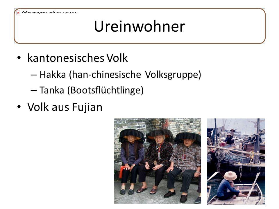 Ureinwohner kantonesisches Volk – Hakka (han-chinesische Volksgruppe) – Tanka (Bootsflüchtlinge) Volk aus Fujian