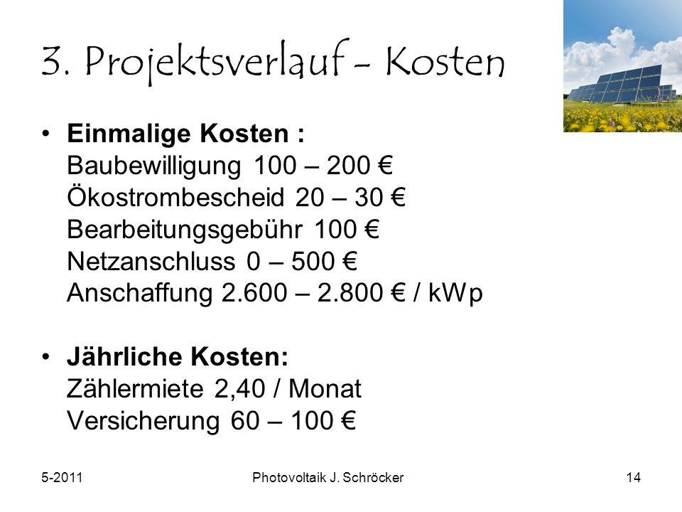 5-2011Photovoltaik J. Schröcker14 3.