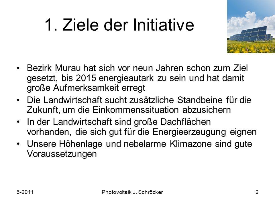 5-2011Photovoltaik J. Schröcker2 1.