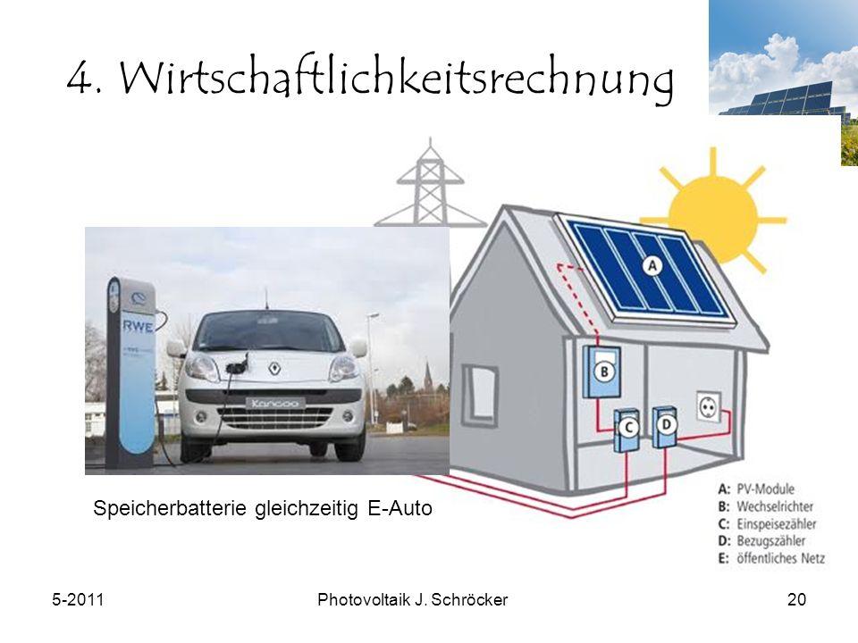 5-2011Photovoltaik J. Schröcker20 4.