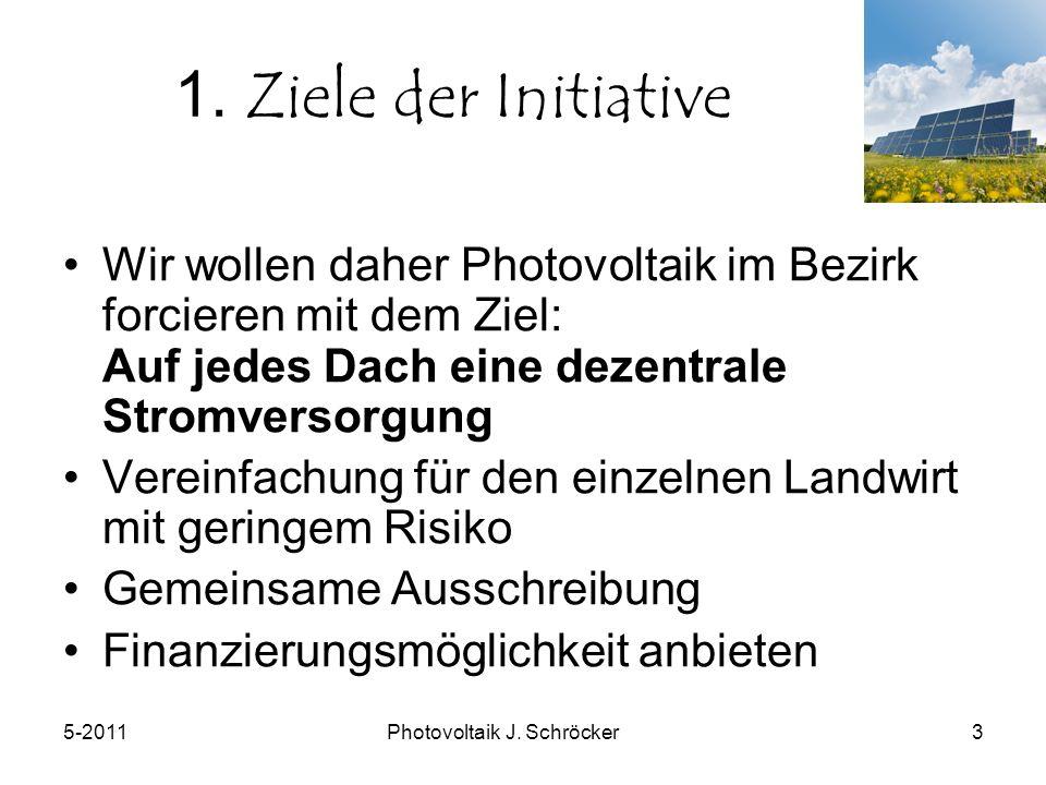 5-2011Photovoltaik J. Schröcker3 1.