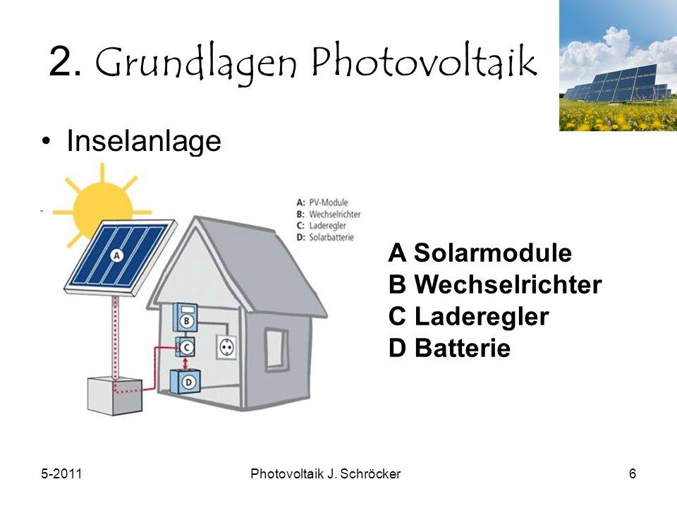 5-2011Photovoltaik J. Schröcker6 2.