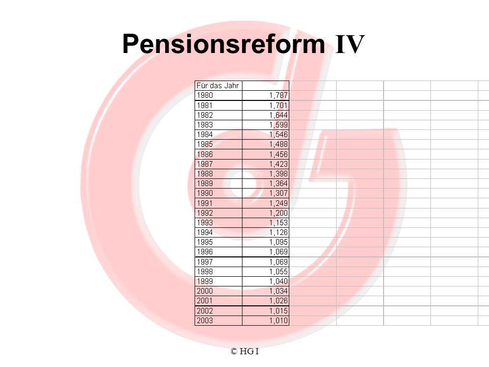 © HG I Pensionsreform IV