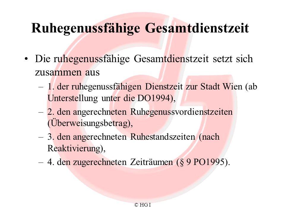 © HG I Pensionsreform VI Abschläge–vom gesetzlichen Antrittsalter –Abschlag ab 1.1.2005 von 0,28%/Monat, max.