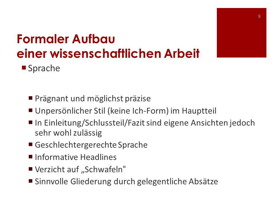 Bibliographie III Quellen aus dem Internet Bei AutorInnen: Nachname, Vorname (Jahr): Titel.