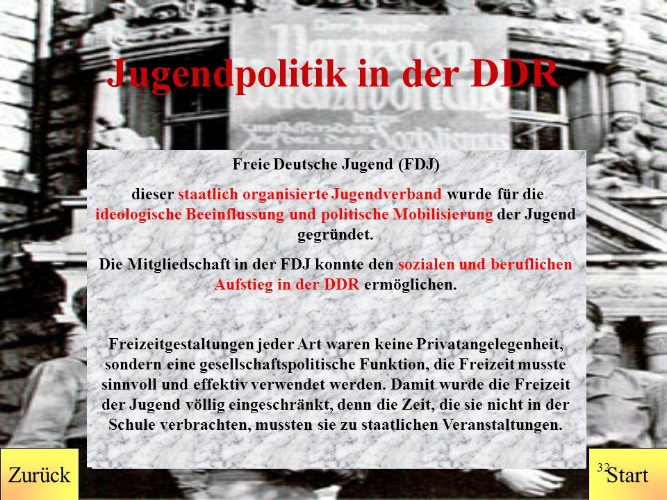 StartZurück 31 Zurück DDR BRD nach dem Mauerfall BRD vor dem Mauerfall Politik