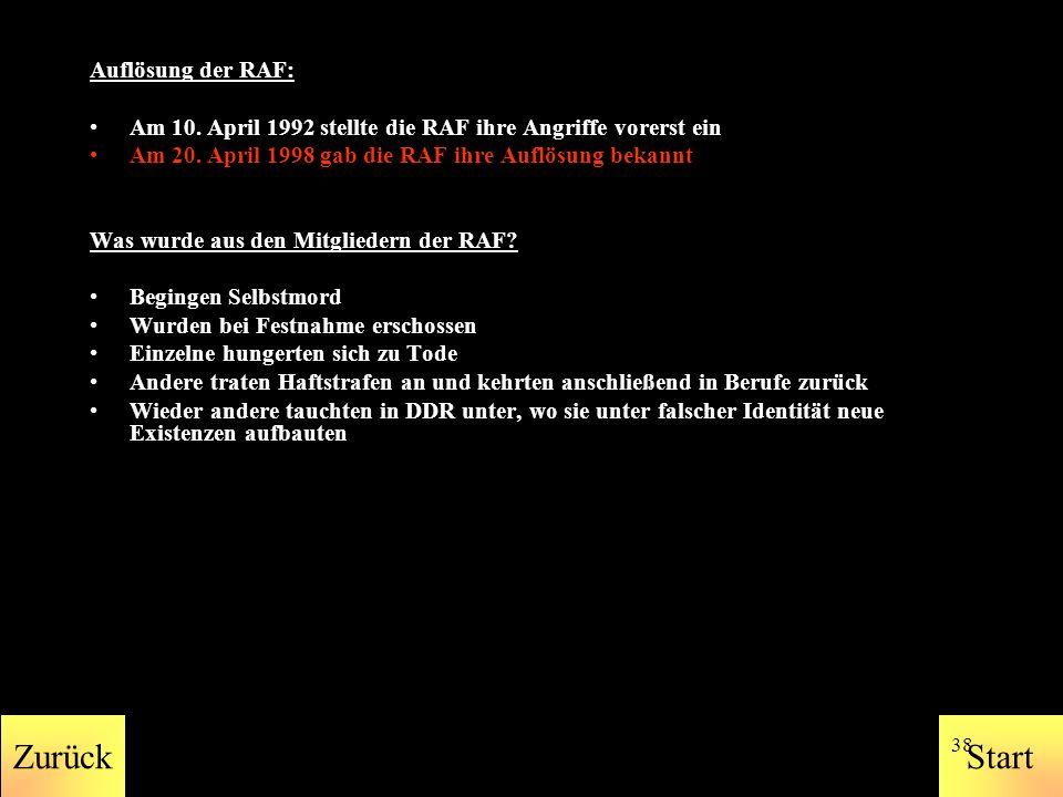 StartZurück 37 Verübte Attentate: 11.05.1972 In Frankfurt explodiert eine Bombe im Hauptquartier des V.