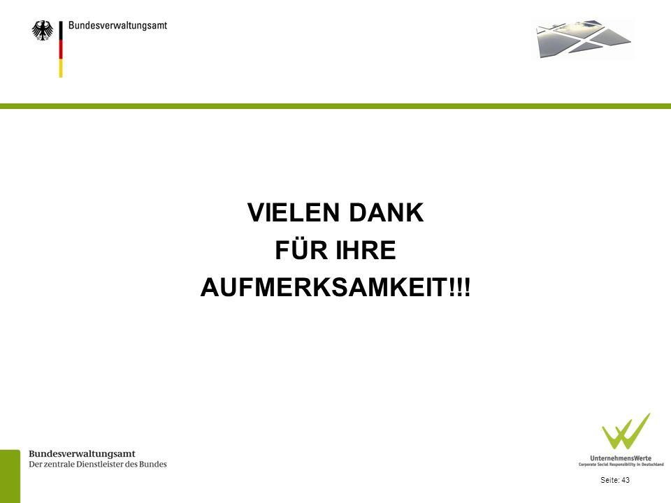 Seite: 43 VIELEN DANK FÜR IHRE AUFMERKSAMKEIT!!!