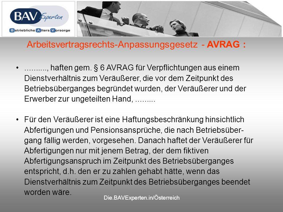 Die.BAVExperten.in/Österreich.........., haften gem.