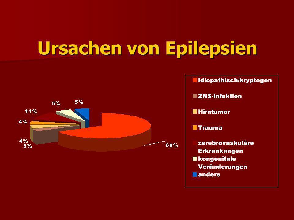 Risikofaktoren Cerebralparese 17-34 % Cerebralparese 17-34 % Geistige Behinderung 22-31 % Geistige Behinderung 22-31 % FA mit Fieberkrämpfen 3,3 % FA mit Fieberkrämpfen 3,3 % Hirntraumen 8 % Hirntraumen 8 % Encephalitis 16 % Encephalitis 16 %