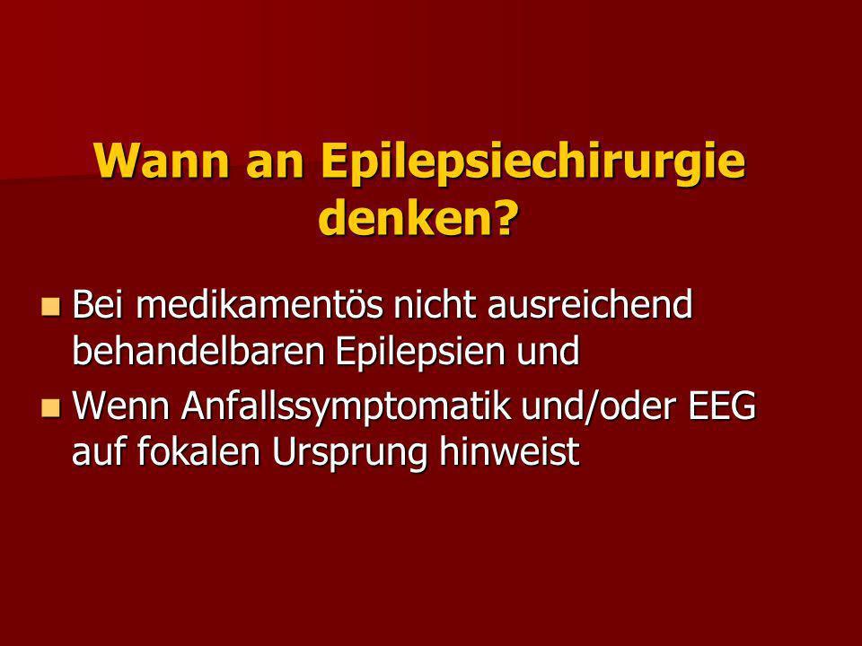 Epilepsiechirurgische Verfahren Standardresektion.