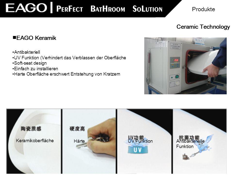 EAGO Keramik Antibakteriell UV Funktion (Verhindert das Verblassen der Oberfläche Soft-seat design Einfach zu installieren Harte Oberfläche erschwert