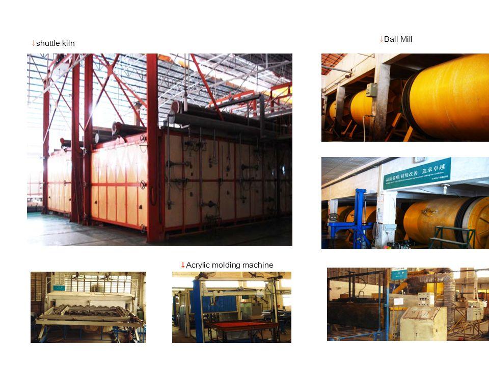 shuttle kiln Acrylic molding machine Ball Mill
