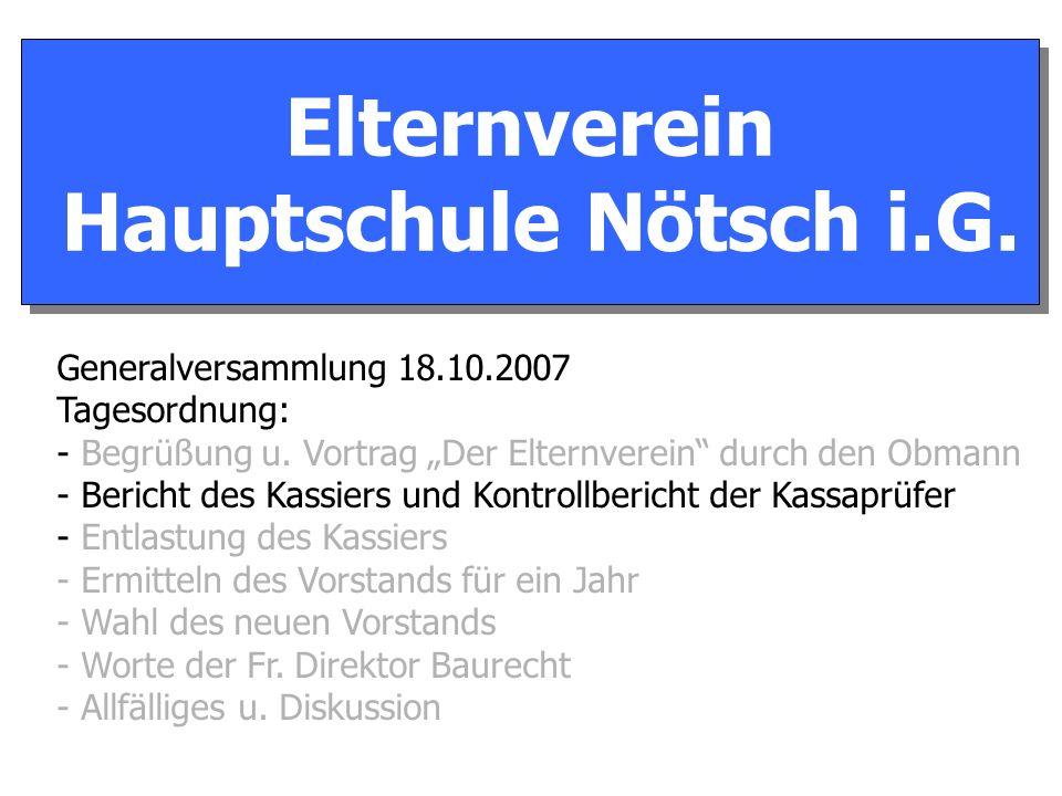Elternverein Hauptschule Nötsch i.G. Elternverein Hauptschule Nötsch i.G.