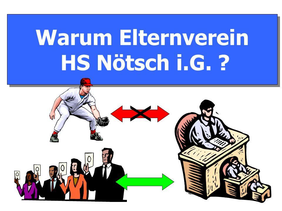 Warum Elternverein HS Nötsch i.G. Warum Elternverein HS Nötsch i.G. X