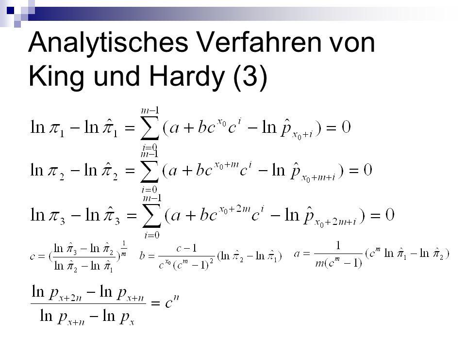 Analytisches Verfahren von King und Hardy (3)