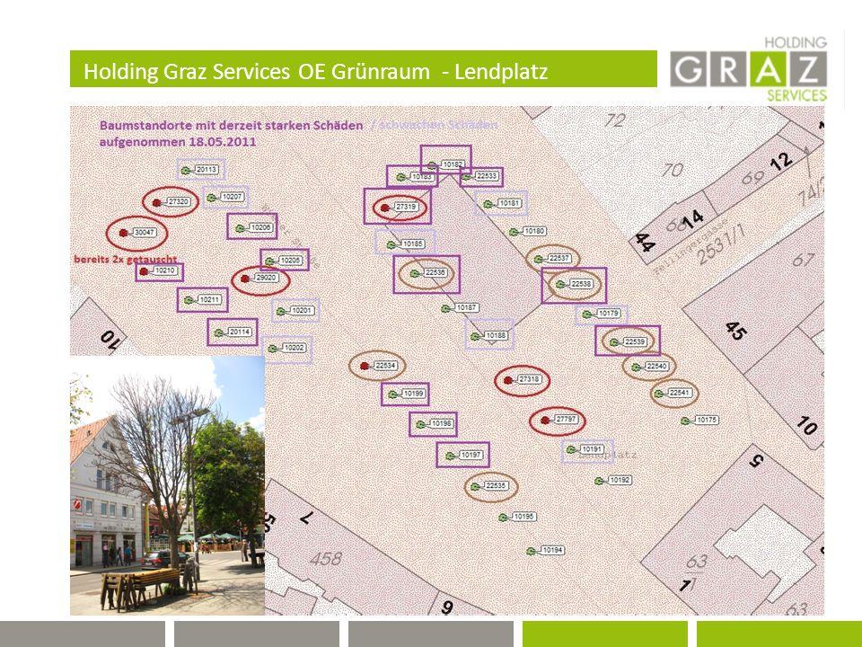 Holding Graz Services OE Grünraum - Lendplatz