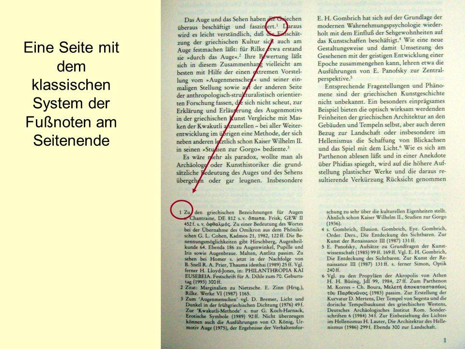 Letzte Seite Text Eine Seite mit dem klassischen System der Endnoten am Ende des Haupttextes.