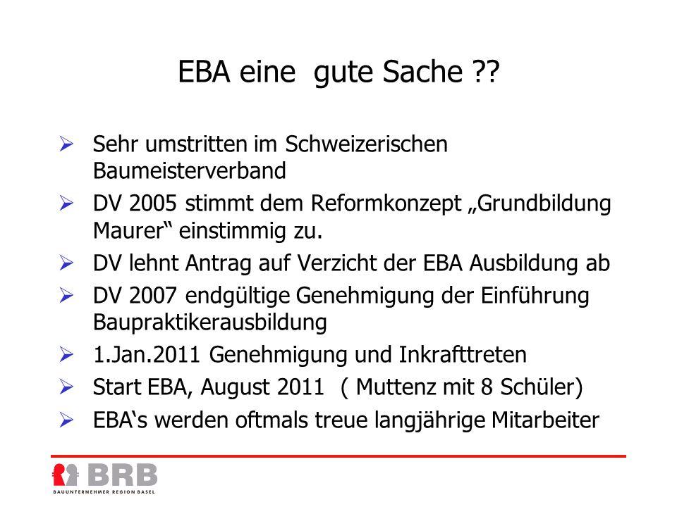 EBA eine gute Sache .