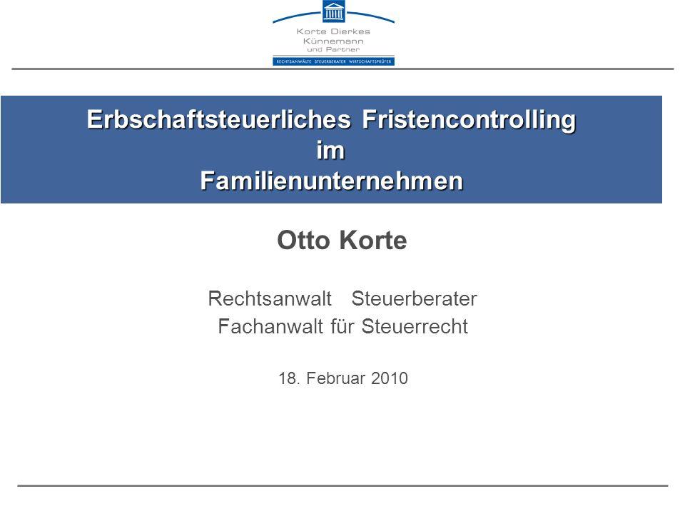 Otto Korte Rechtsanwalt Steuerberater Fachanwalt für Steuerrecht 18.