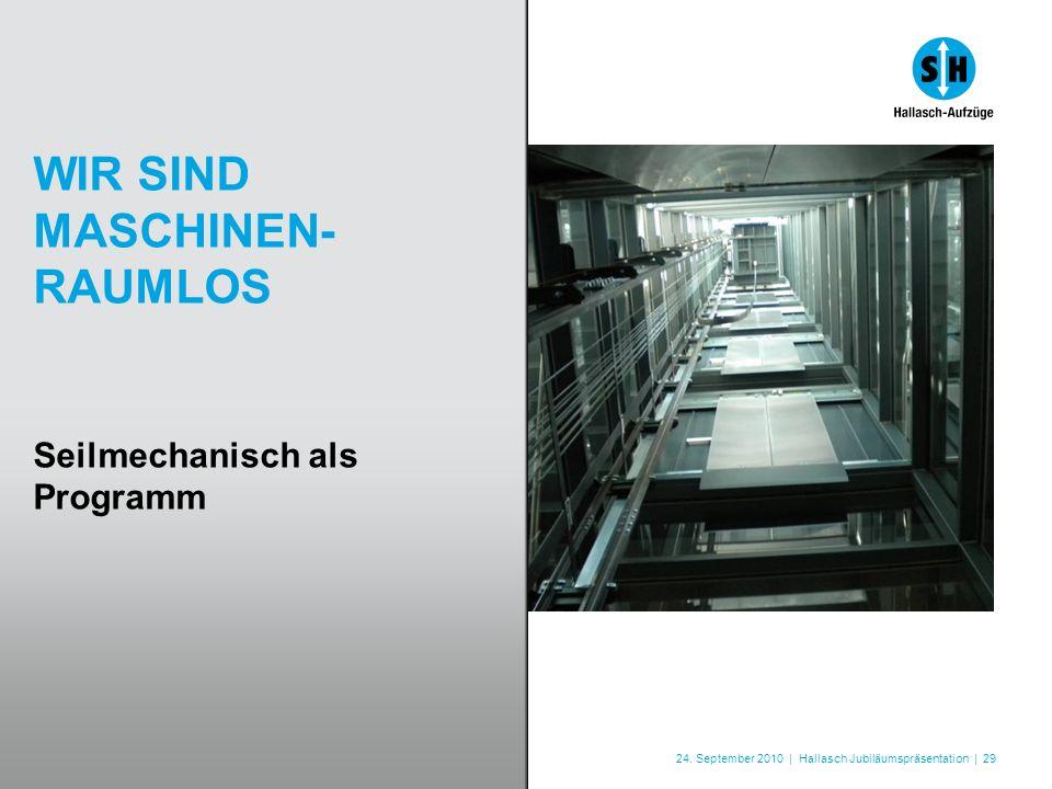 24. September 2010 | Hallasch Jubiläumspräsentation | 29 WIR SIND MASCHINEN- RAUMLOS Seilmechanisch als Programm