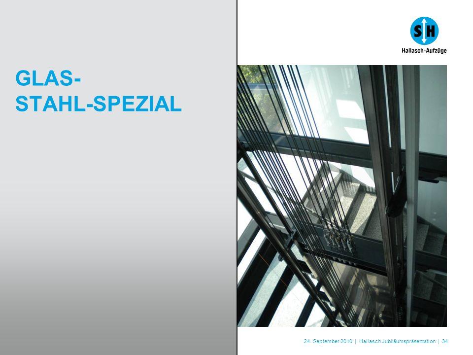 24. September 2010 | Hallasch Jubiläumspräsentation | 34 GLAS- STAHL-SPEZIAL