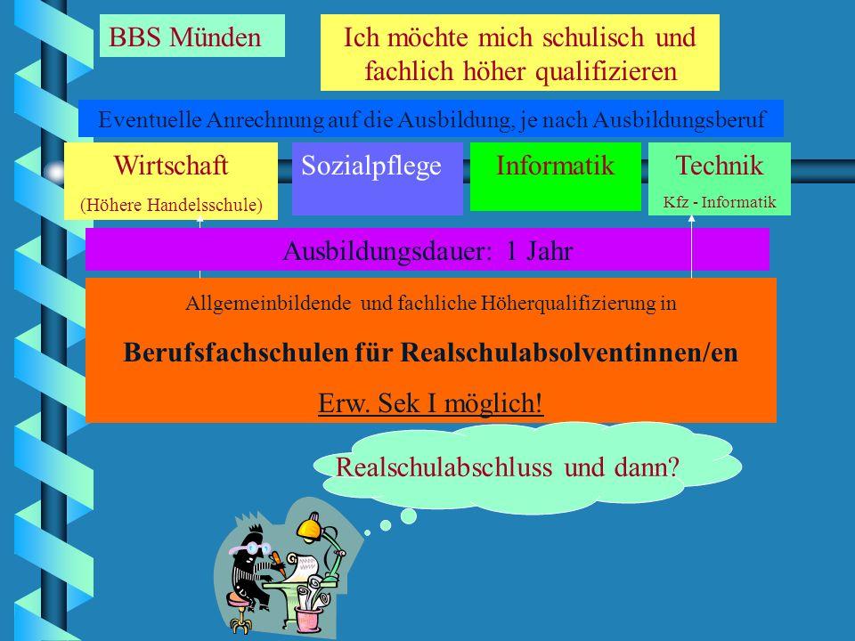 Realschulabschluss und dann? Lehre 2 bis 3 1/2 Jahre ? Zusatz- aus- bildung:FOS Fach- hochschul- Reife Neu! Gesamthochschule oder Fachhochschule BGJ 1