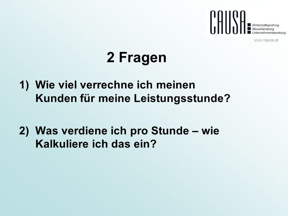 www.causa.at Kalkulation Umsatz1.500 Tsd.Material -500 Tsd.