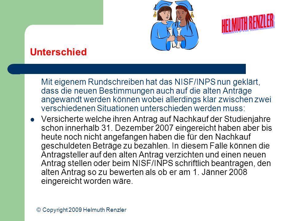 Unterschied Mit eigenem Rundschreiben hat das NISF/INPS nun geklärt, dass die neuen Bestimmungen auch auf die alten Anträge angewandt werden können wo