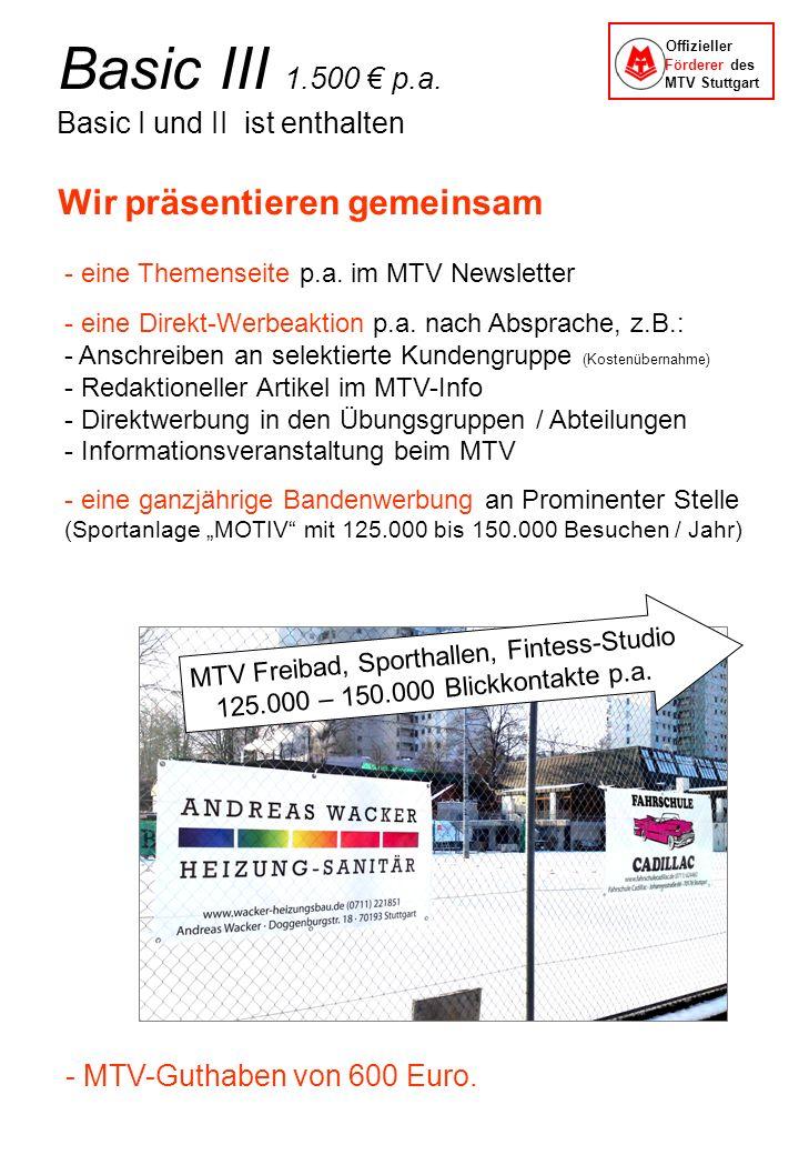 Wir präsentieren gemeinsam - eine Themenseite p.a. im MTV Newsletter - eine Direkt-Werbeaktion p.a. nach Absprache, z.B.: - Anschreiben an selektierte