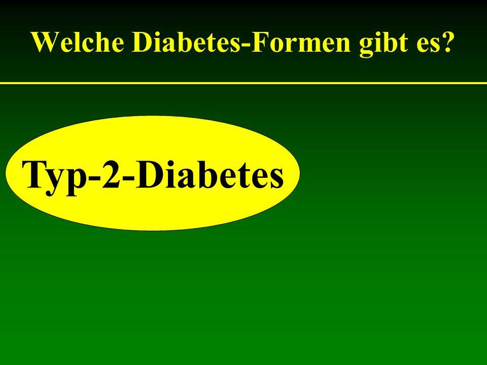 Welche Diabetes-Formen gibt es? Typ-2-Diabetes