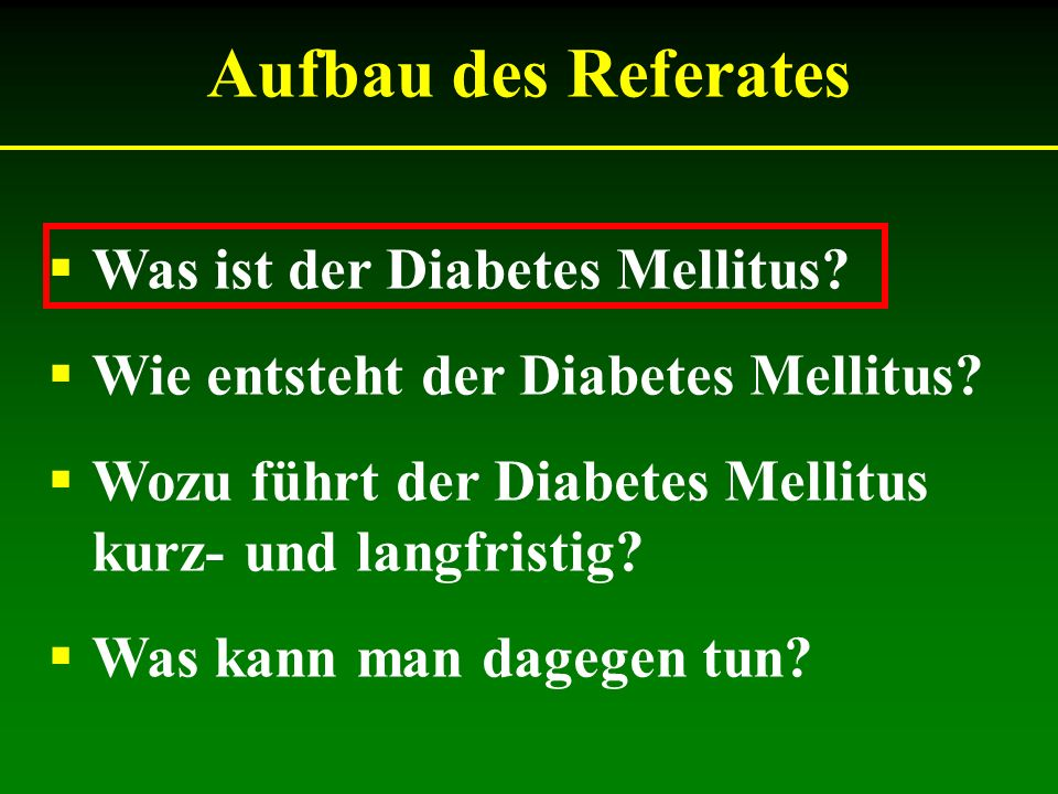 Warum ist Diabetes nicht ungefährlich.