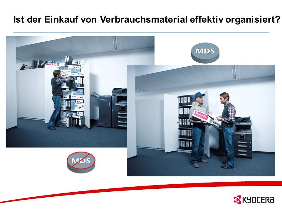 13 Ist der Einkauf von Verbrauchsmaterial effektiv organisiert?