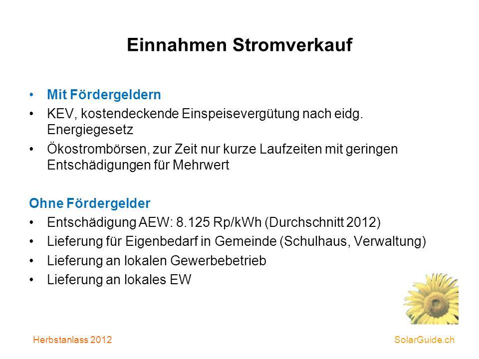 Wirtschaftlichkeitsmodell Beispiel 1 Kapitalrückzahlung in 25 Jahren Inbetriebnahme 2010 Leistung 25.2 kWp Jährl.